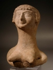 Israelite terracotta bust of the fertility goddess Astarte.