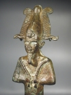 Bronze Egyptian figurine of Osiris.