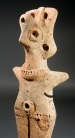 Canaanite terracotta figurine of a fertility goddess (Astarte?)